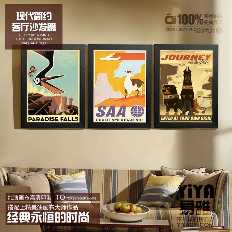 Ya-produced Pixar UP flying house living room paintings framed cartoon poster bedroom mural painting decorative painting restaurant