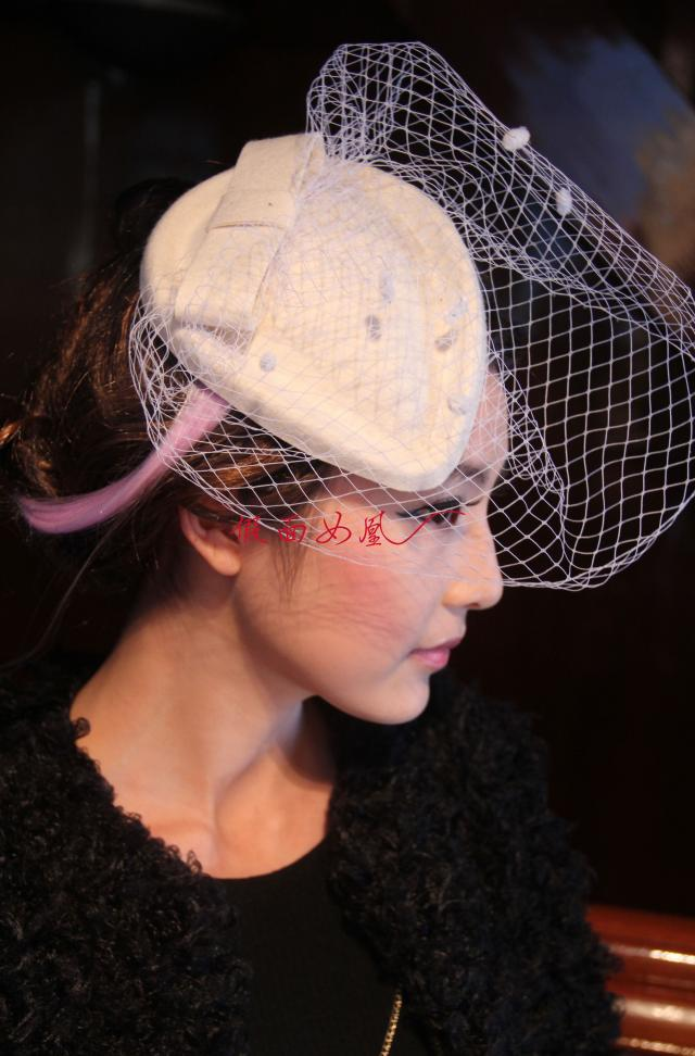 Beautiful Bridal Wedding Fascinators Birdcage Veils