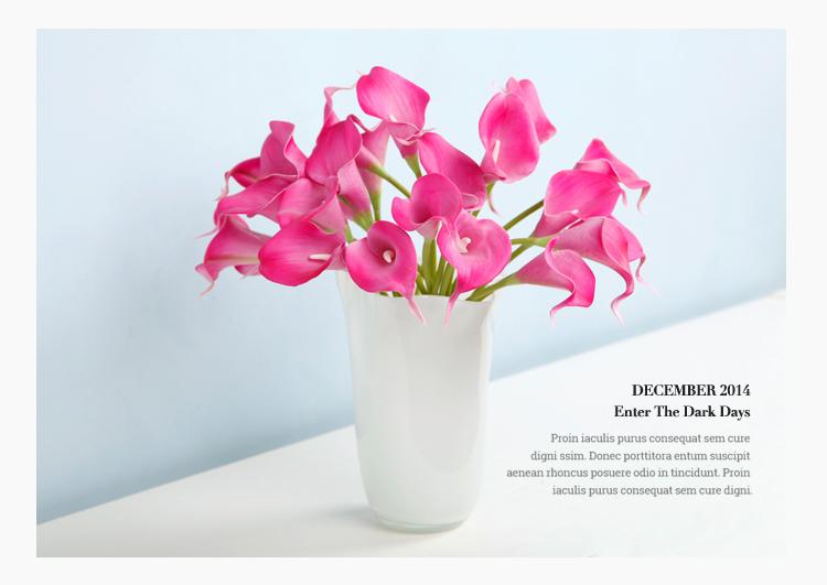 贝贝家饰 迷你马蹄莲仿真花 假花 欧式客厅餐桌装饰花 摆放花艺