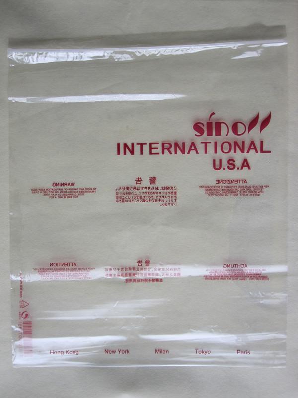 Пакет с Zip-замком Найди 〓 〓 Сумки на продажу 38 * 48 * 12 шелкография 6 предупреждающие знаки Сино получил 50 мешков