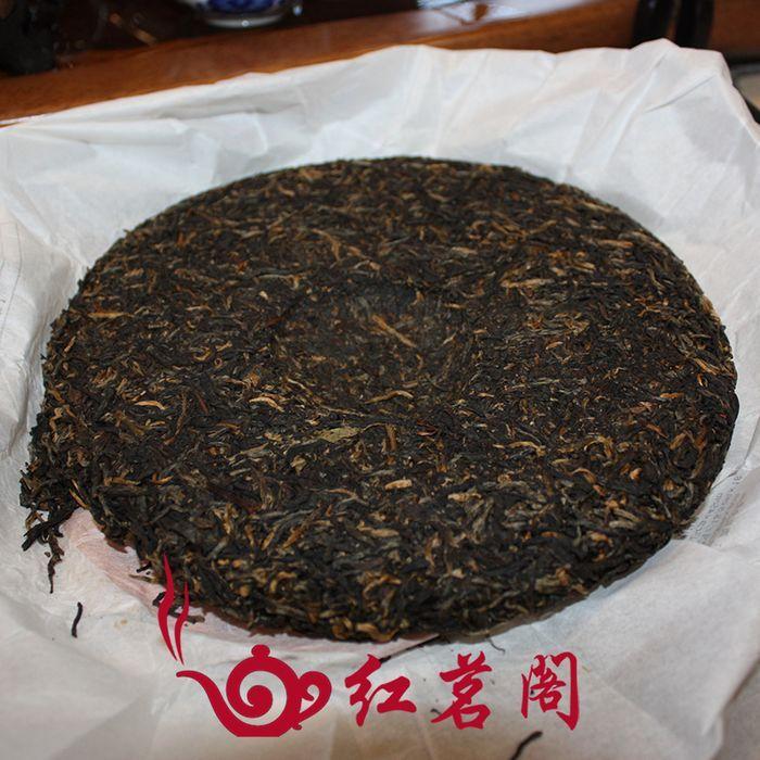 Перкуссия спец лучшие продажи подлинные fengqing Юньнань Премиум Голд чай 357 g нажата пу-эр чай черный чай