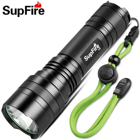 正品SupFire神火L6强光手电筒26650可充电式LED户外灯T6-L2远射王
