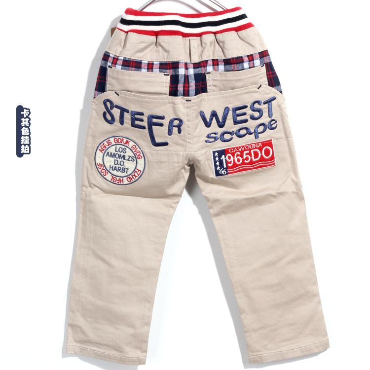 детские штаны 2014 новая весна одежды Хан издание внешней торговли хлопок мальчиков маркировки 1965 г. детская одежда повседневные брюки брюки Бесплатная доставка
