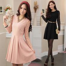 淘金币 超推荐2012女装 新款通勤女装气质蝴蝶结假两件套连衣裙